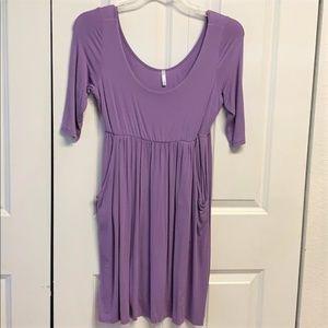 Pink Blush Casual Dress Size M Purple